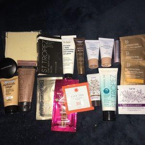 Tanning samples